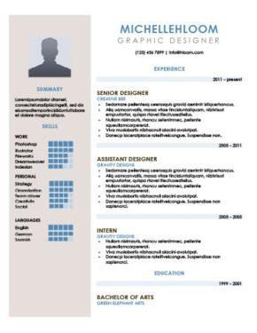 Sidebar Resume Template