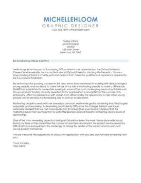 Sidebar cover letter