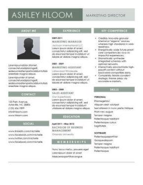 Plantilla de CV de selección para el puesto