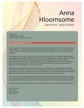 Ribbon cover letter