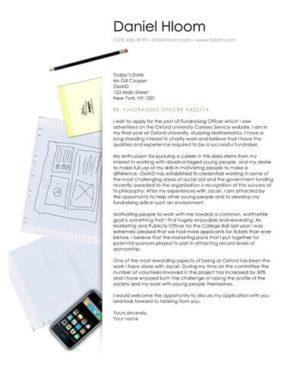 Social Media cover letter