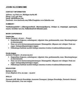 In-Depth Resume Template