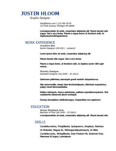 Splash of Blue Resume Template
