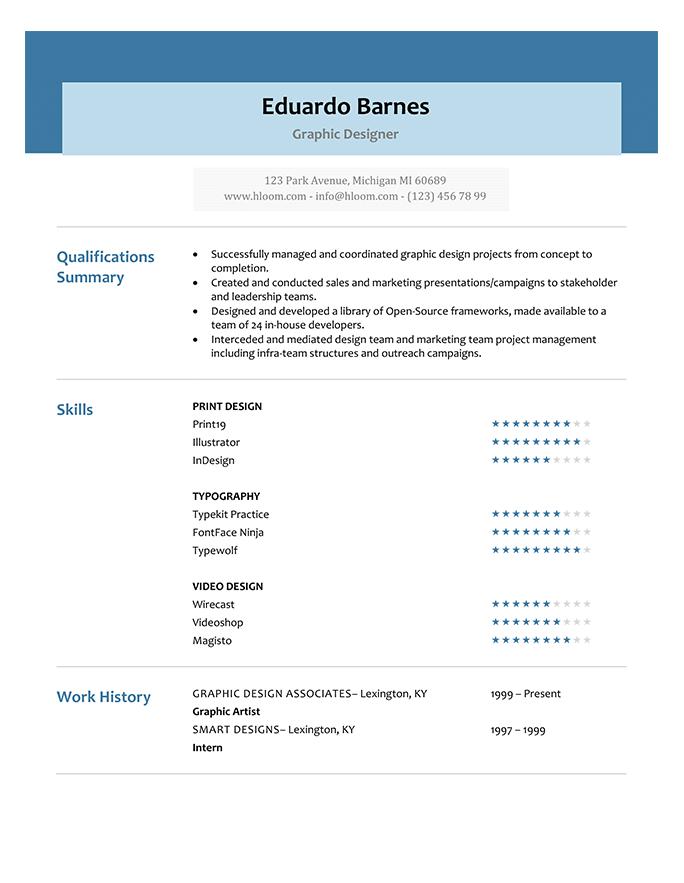 66 Modern Resume Templates Hloom