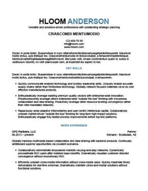 Senior Management Resume Template