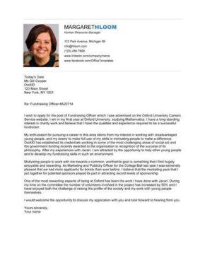 Self Assessment cover letter