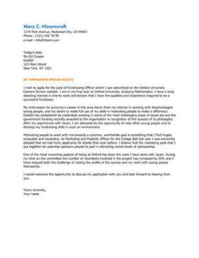 Leading Edge cover letter