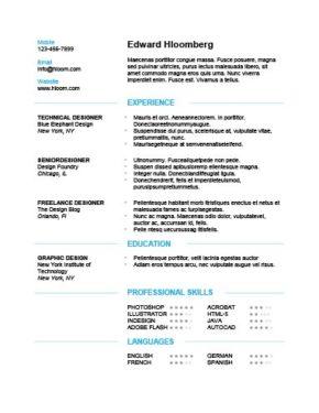Plantilla de CV moderna y discreta