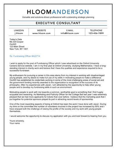 Executive Elegant cover letter