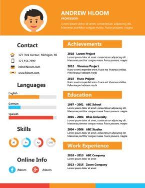 Orange STEM Skills Infographic Resume
