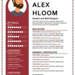 CV infographie barres de compétences