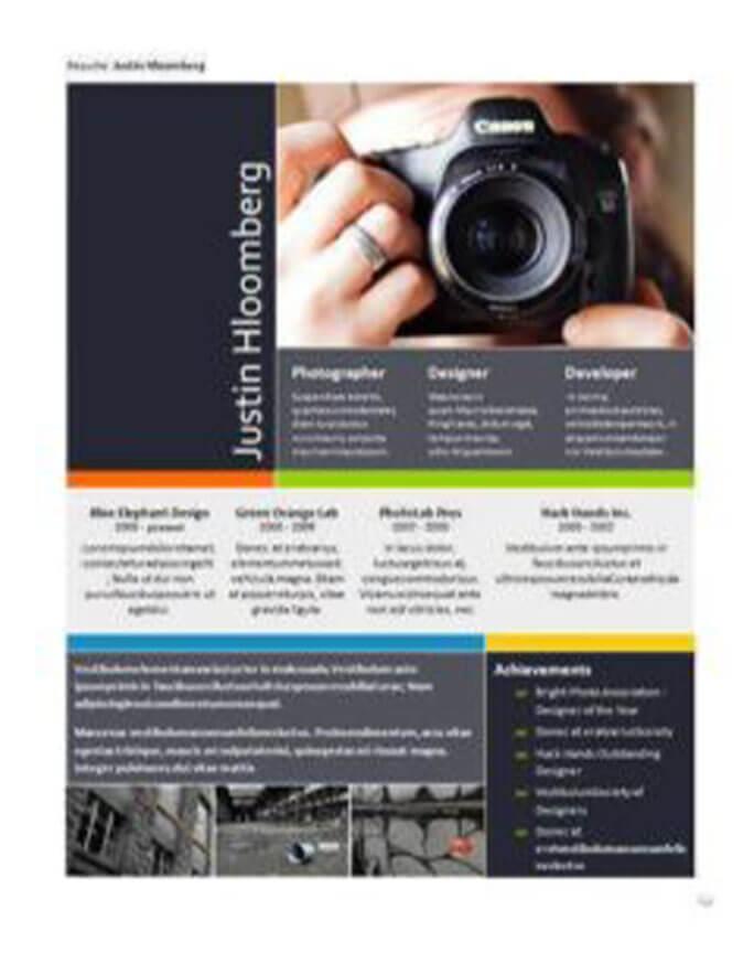 Curriculum con portfolio