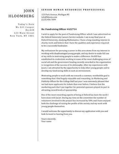 Plain Divider cover letter