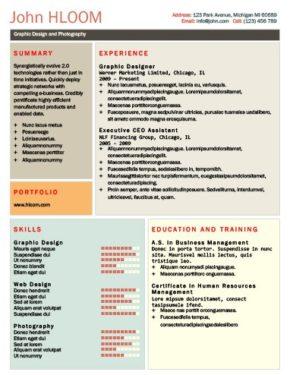 Modello di curriculum Reticolato