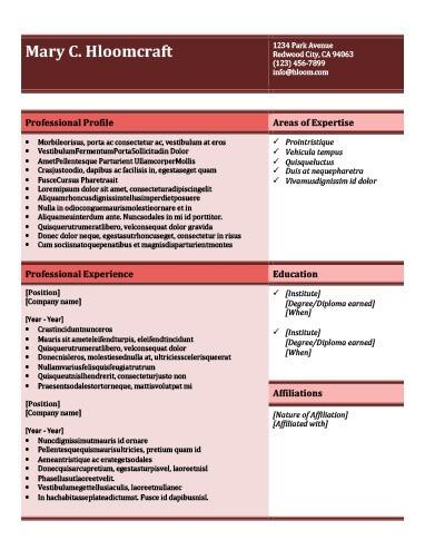 salmon resume template
