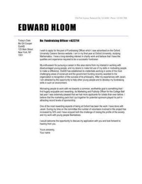 font cover letter