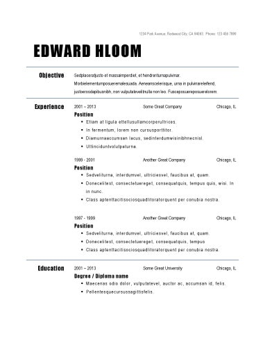 Big And Bold Resume Template  Resume Template Examples