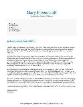 Testimonials cover letter