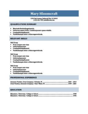 No-Nonsense Resume Template