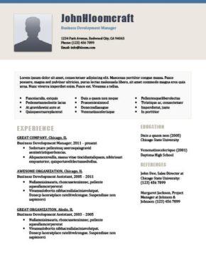 Plantilla de CV de élite