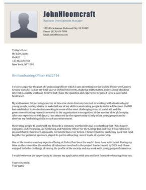 Power Elite cover letter
