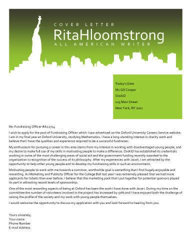 Transatlantic America New York cover letter