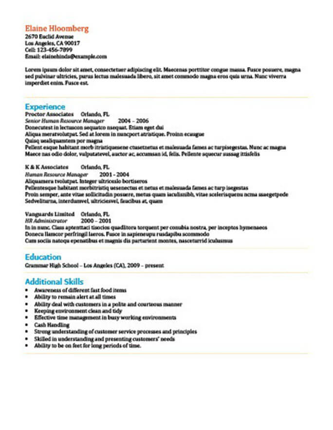 List It Resume Template