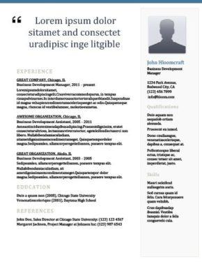 Newsletter Resume Template