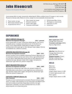 Splash Page Resume Template