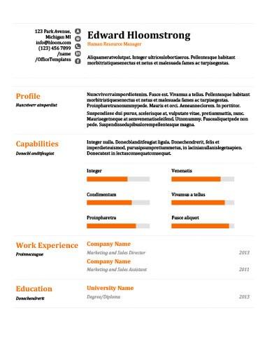 Raise the Bar Resume Template