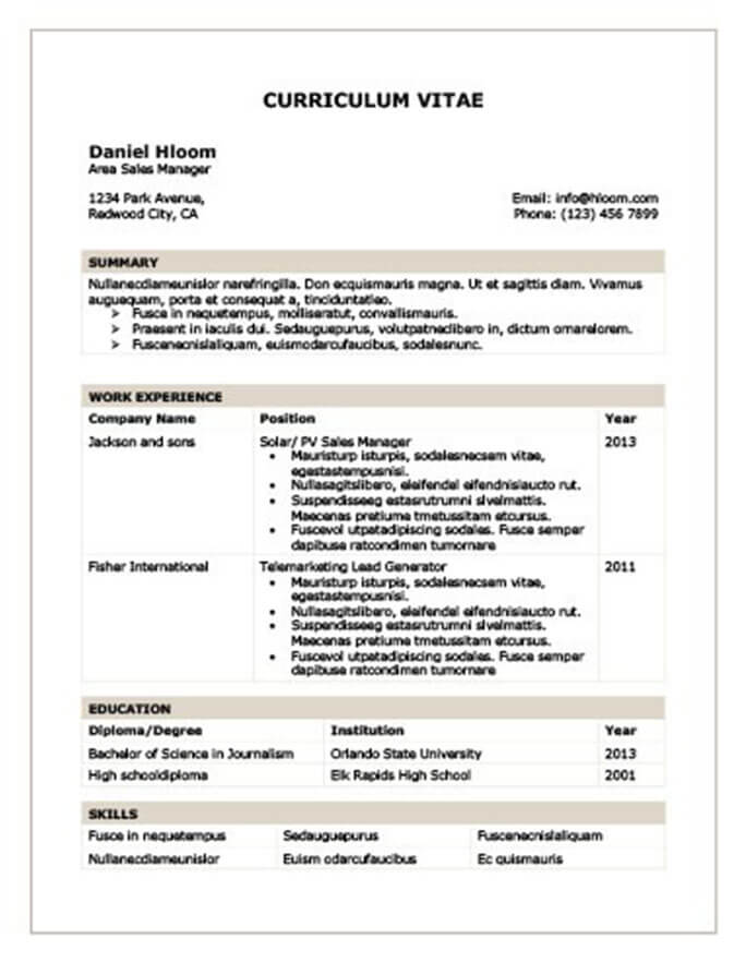 traditional 2 resume template download chronological table curriculum vitae example