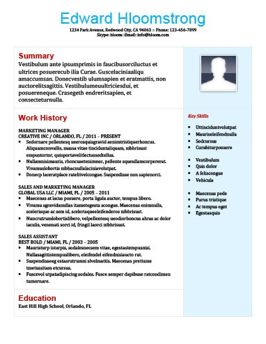 22 contemporary resume templates free