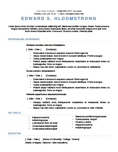 Bright Contrast Resume Template