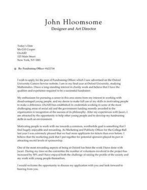 Timeline cover letter