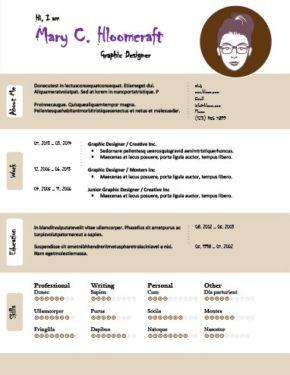 Plantilla de CV con presentación