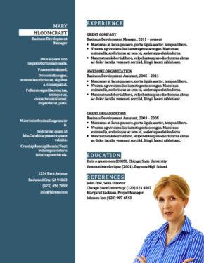 Plantilla de CV de promoción