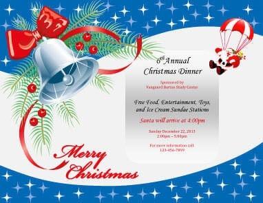 Annual Christmas Dinner Invitation Template