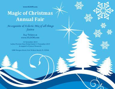 Annual Fair Announcement Invitation Template