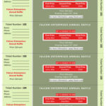 Annual Raffle Ticket Template with Three prizes