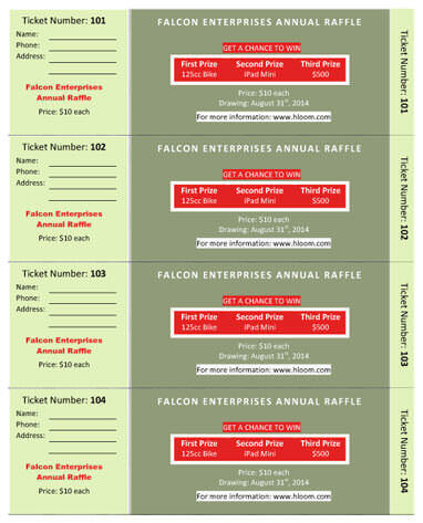 15 Free Raffle Ticket Templates in Microsoft Word Mail Merge