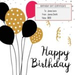 Baloons Birthday Gift Certificate