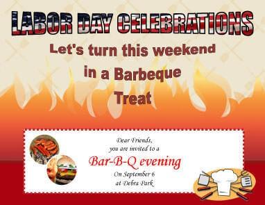 Labor Day Barbecue Party Invite