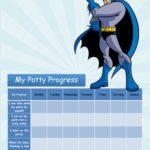 Tableau d'apprentissage de la propreté hebdomadaire Batman