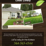 Before and After Wooden Theme Landscaping Flyer Template