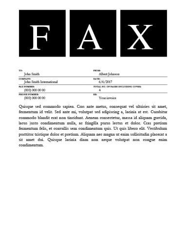 Big Square Fax Template