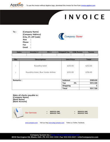 sales invoice templates [27 examples in word and excel], Invoice examples