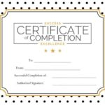 free certificate of excellence templates blank excellence certificate of completion - Free Certificate Of Excellence Template