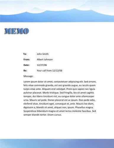Blue mountain memo template
