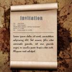 Muestra de invitación grunge marrón