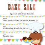 Cartoon Chef Special Children Benefit Bake Sale